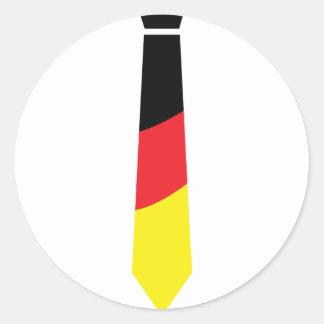 deutschland krawatte classic round sticker