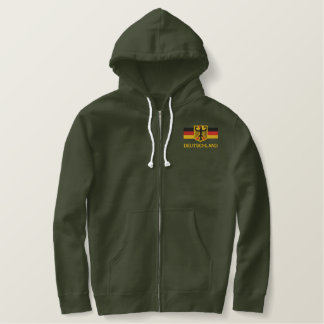 DEUTSCHLAND Mens Embroidered zip hoodie