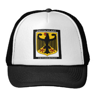 DEUTSCHLAND OKTOBERFEST GERMAN COAT OF ARMS PRINT MESH HATS