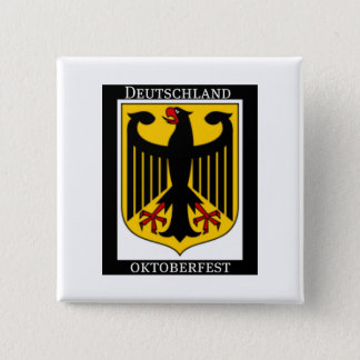 DEUTSCHLAND OKTOBERFEST GERMAN COAT OF ARMS PRINT PINBACK BUTTON