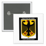 DEUTSCHLAND OKTOBERFEST GERMAN COAT OF ARMS PRINT PINBACK BUTTON