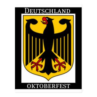 DEUTSCHLAND OKTOBERFEST GERMAN COAT OF ARMS PRINT POSTCARD