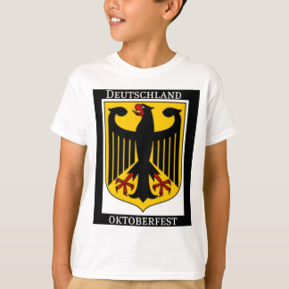 DEUTSCHLAND OKTOBERFEST GERMAN COAT OF ARMS PRINT T-Shirt