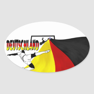 Deutschland Oval Sticker