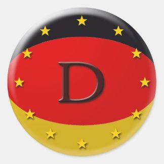 deutschland pegatinas redondas