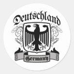 Deutschland Pegatina Redonda