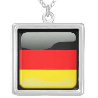 Deutschland polished silver plated necklace