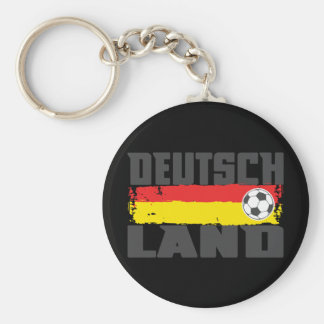 Deutschland Soccer Basic Round Button Keychain