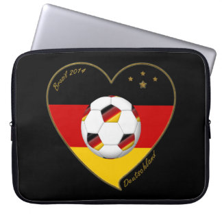 """DEUTSCHLAND"" Soccer Team 2014. Fútbol de Alemania Funda Portátil"