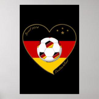 """DEUTSCHLAND"" Soccer Team 2014. Fútbol de Alemania Póster"