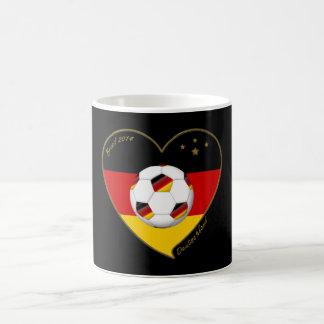 """DEUTSCHLAND"" Soccer Team 2014. Fútbol de Alemania Taza Básica Blanca"