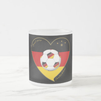 """DEUTSCHLAND"" Soccer Team 2014. Soccer of Germany Frosted Glass Coffee Mug"