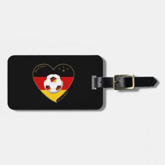 """DEUTSCHLAND"" Soccer Team 2014. Soccer of Germany Travel Bag Tag"
