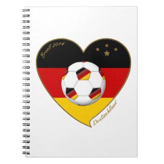 """""""DEUTSCHLAND"""" Soccer Team. Fútbol de Alemania 2014 Libretas Espirales"""