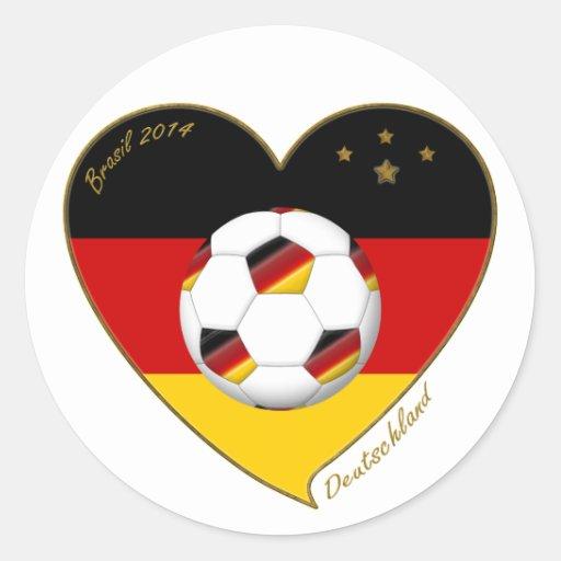 """DEUTSCHLAND"" Soccer Team. Fútbol de Alemania 2014 Etiqueta"