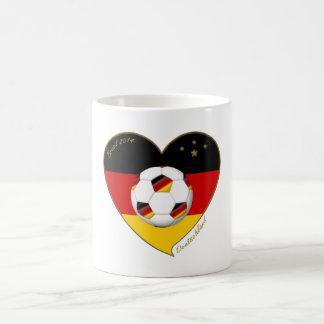 """DEUTSCHLAND"" Soccer Team. Fútbol de Alemania 2014 Taza Básica Blanca"