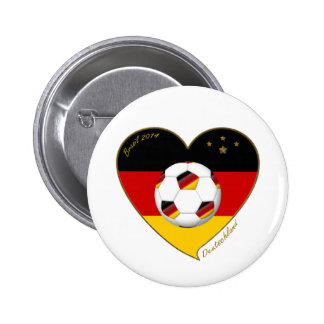 """DEUTSCHLAND"" Soccer Team. Soccer of Germany 2014 Buttons"