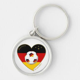 """DEUTSCHLAND"" Soccer Team. Soccer of Germany 2014 Keychain"
