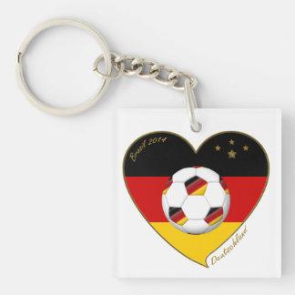 """DEUTSCHLAND"" Soccer Team. Soccer of Germany 2014 Acrylic Key Chain"