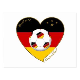 """DEUTSCHLAND"" Soccer Team. Soccer of Germany 2014 Post Cards"