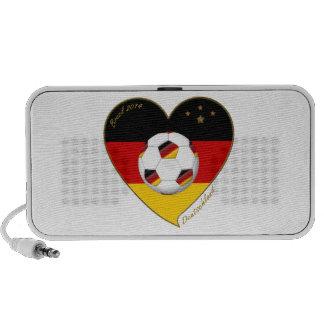 """DEUTSCHLAND"" Soccer Team. Soccer of Germany 2014 Laptop Speakers"