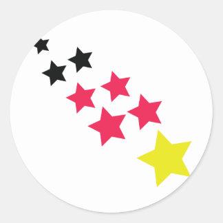 deutschland sterne german stars classic round sticker