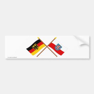 Deutschland und Thüringen Flaggen, gekreuzt Car Bumper Sticker