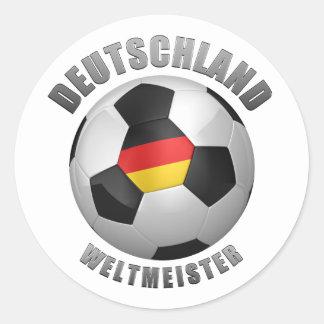 Deutschland Weltmeister Etiqueta Redonda