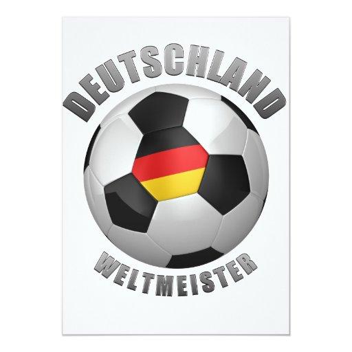 """Deutschland Weltmeister Invitación 5"""" X 7"""""""
