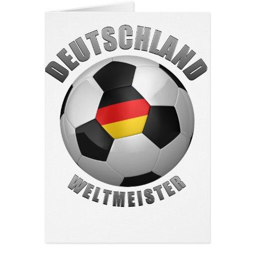 Deutschland Weltmeister Tarjeta De Felicitación