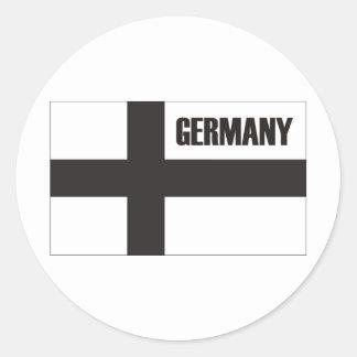 ¡Deutschland y productos y diseños de Alemania! Pegatina Redonda