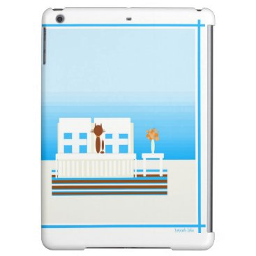 Beach Themed Deux Chat at the Beach Cover For iPad Air