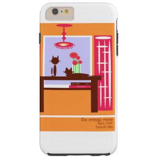 Deux Chats in Orange Room Tough iPhone 6 Plus Case