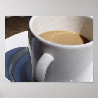 Deux de la taza de café póster