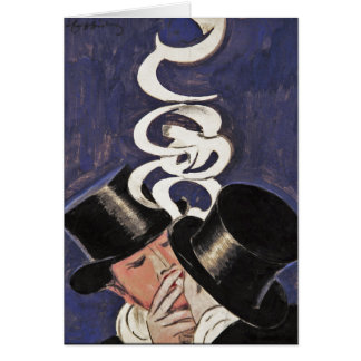 Deux Fumeurs by Cappiello Stationery Note Card