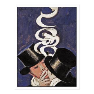 Deux Fumeurs by Cappiello Postcard