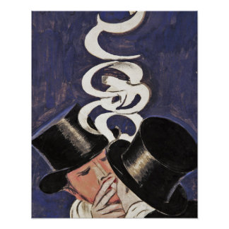 Deux Fumeurs por Cappiello Poster
