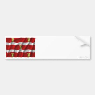 Deux-Sèvres waving flag Bumper Stickers