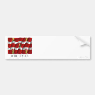 Deux-Sèvres waving flag with name Bumper Stickers
