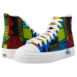 Devante's Afrocentric High-Top Sneakers