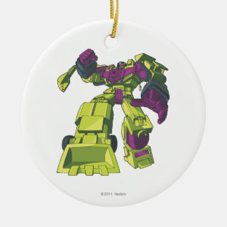 Devastator 3 Double-Sided ceramic round christmas ornament