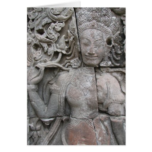 Devata from The Bayon Greeting Card