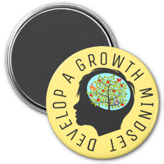 "Develop A Growth Mindset Education Reform  3"" Magnet"