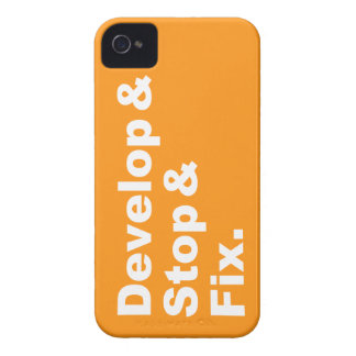 Develop & Stop & Blackberry Case (white text)
