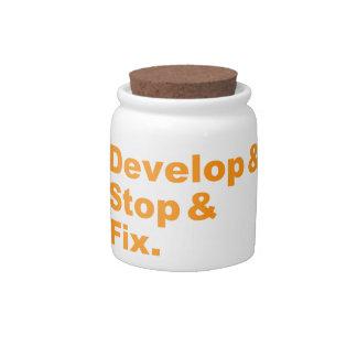 Develop & Stop & Fix Candy Jar