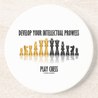Develop Your Intellectual Prowess Play Chess Sandstone Coaster