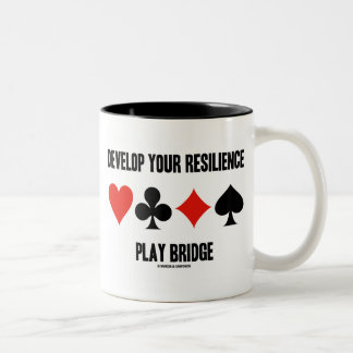Develop Your Resilience Play Bridge (Card Suits) Two-Tone Coffee Mug