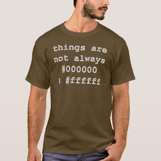 Developer Programmer Black & White T-Shirt