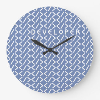 Developer / Round (Medium) Wall Clock