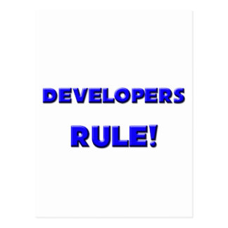 Developers Rule! Post Card